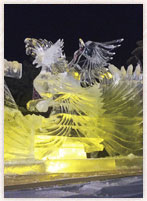氷の祭典・アイスワールドin伊佐・鳳凰像